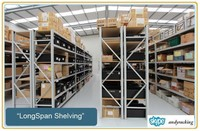 warehouse storage common use easy to access and pick up medium duty shelving