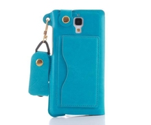 New Product Wholesale Handbag Pattern PU Leather Protective Case for Apple Iphone 4 4s with Card Slot and Hand Strap