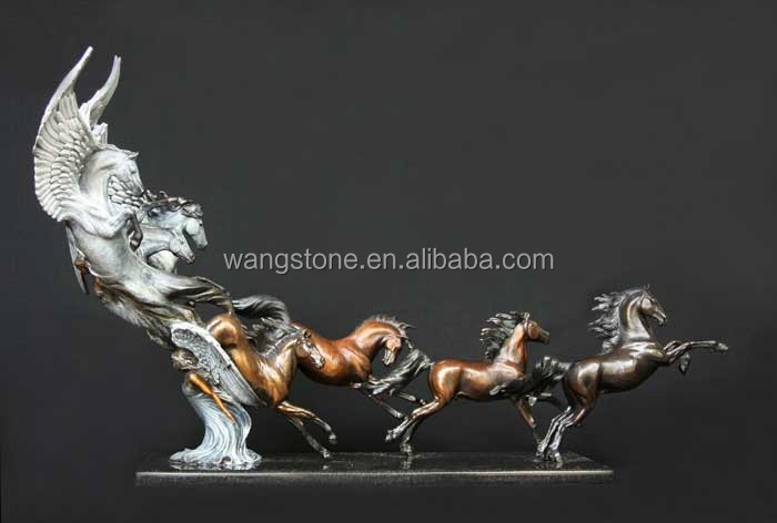 Art Decoration Bronze Running Horse Statues