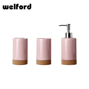 2017 New design china ceramic hotel bathroom accessory sets