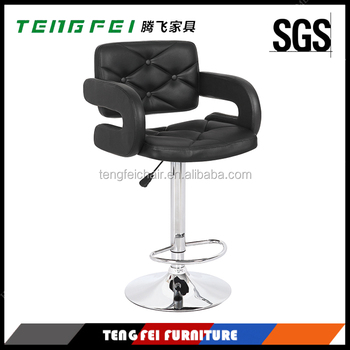 Swivel bar stool, Certificated SGS gas lift,385mm chroming base,360 degree swivel!