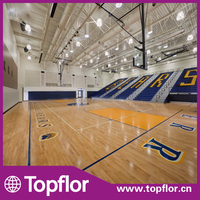 Retail Fitness Indoor Basketball Court Wood Flooring