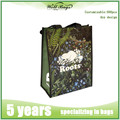 Recyclable Green Non Woven Laminated Carry Bag , shopping tote bag