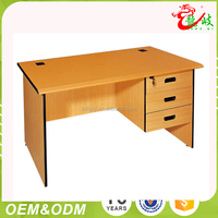 Cheap low price hot sale three drawer fireproof board home office furniture study writing desk computer desk office table