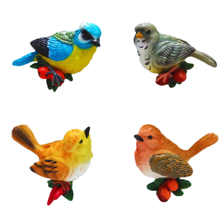 Magnet Bird Shape Resin Miniature Figurines