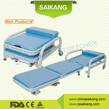 SKE002 Hospital Furniture Foam Folding Chair Bed