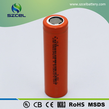 Cylindrical shape rechargeable 18650 cell li-ion battery for led lightings