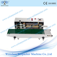 automatic continuous heat bag sealing machine/bag sealer