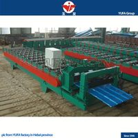 Steel Tile glazed tile forming machine making step roofing YUFA
