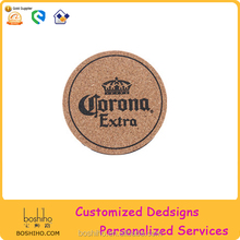 Factory Wholesale Cork Wood Coaster with Customed Logo of All Types Shape