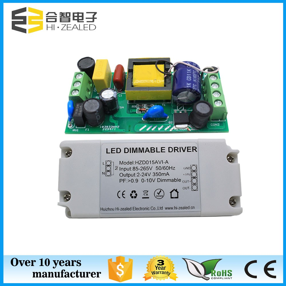 350ma led driver plastic case led switching power supply 0-10v dimming led driver