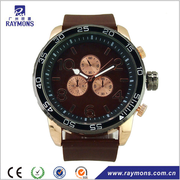 Sport type men's silicone rubber watch