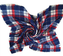 New arrival 2 color assorted plaid acrylic ladys large winter square scarf SL-110