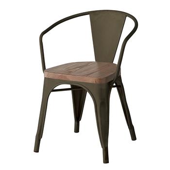 Scandinavian Dining Chairs Industrial Vintage Black Metal