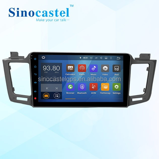 Car Multimedia Player with GPS Navigation For Toyota RAV4 2014, Optional M-link to iOS and Android