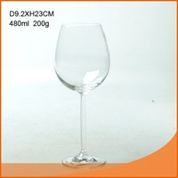 Long stem crystal wine glass cup 480ml