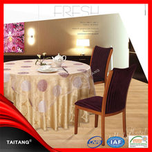 2014 high quality factory price hotel luxury plastic round table covers
