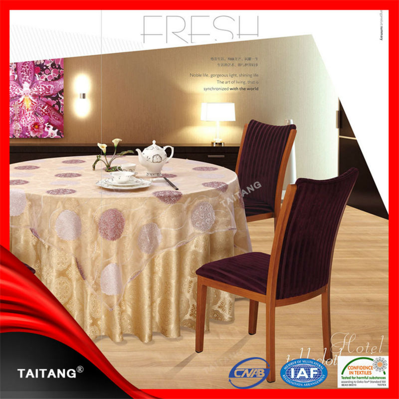 2017 high quality factory price hotel luxury plastic round table covers