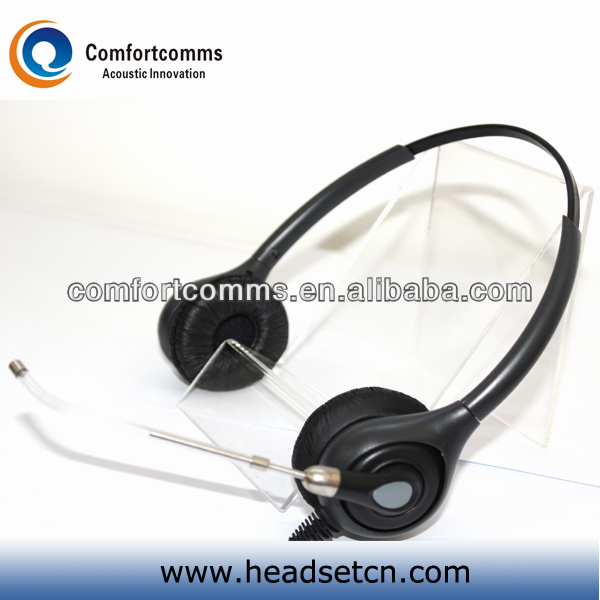 Professional call center VOIP computer headsets with voice tube