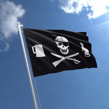 Cheap Custom Jolly Roger Pirate Flag Mounted Flag
