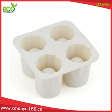 Promotion silicone kitchen untils whisky ice shot glass, silicone ice tray