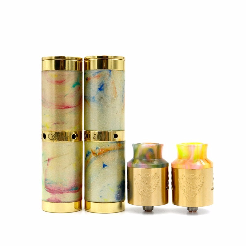 factory supply baal v4 mechanial tube mod kits vape gold electronic cigarette kit with resin drip tip 1:1 clone e cigarette mods