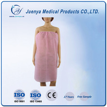 Comfortable fashional disposable Nonwoven Bathrobe for women