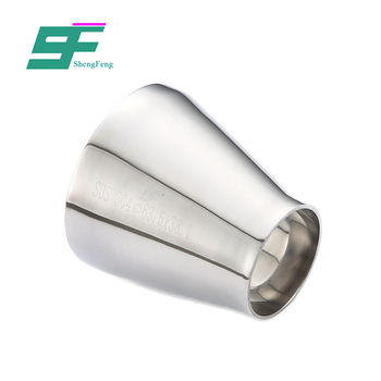 Factory wholesale high quality stainless steel sanitary round shape eccentric welded reducer