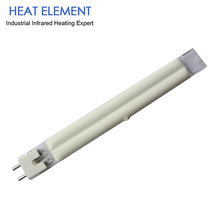 Quartz filament gold twin short wave infrared curing lamp tube