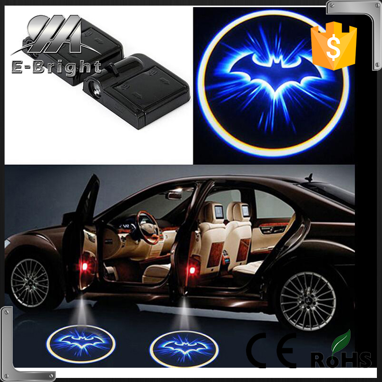 No Hole Drill Car LED Door Logo Projector Ghost Shadow Laser Light customizing car logo laser door light