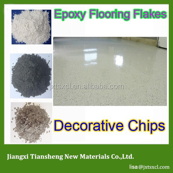 decorative chips to Create a terrazzo type appearance floor coating