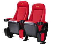 movable xxx movie chair comfortable theater chair with cup holders HJ9401