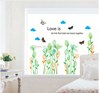 AY7239 Lotus flowers and butterflies home decorate Wall Sticker 50*70