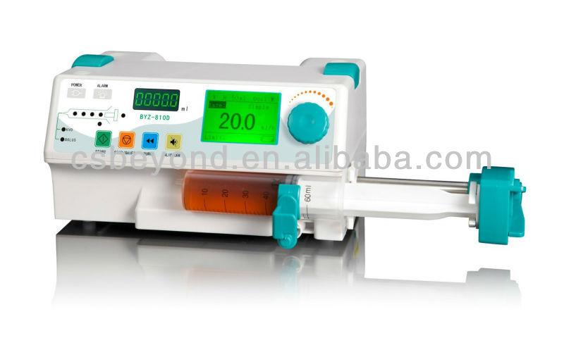 Cheap Medical Single Channel Syringe Pump with Drug Library BYZ-810D