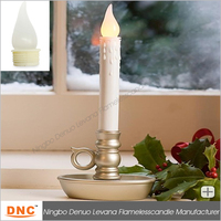 Battery-Operated LED Window Taper Candles