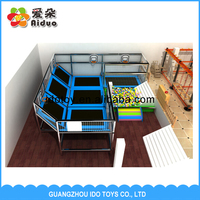 Popular High Quality Gymnastics Trampolines with Safety Net and Foam Pit Square Trampolines