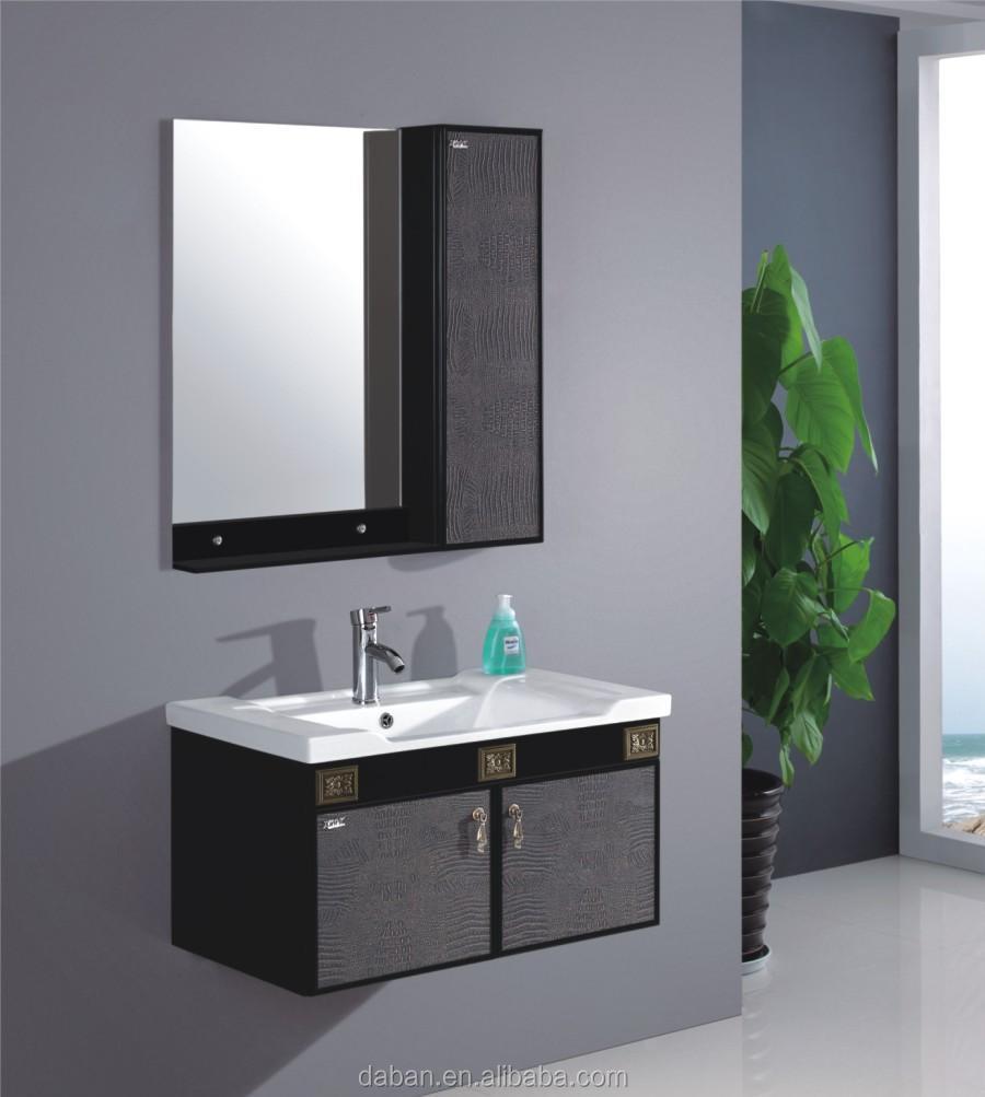 Jisheng waterproof wood bathroom vanity cabinet india type marble