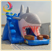 Guangzhou RuiLin funny children park durable PVC water slides for sale
