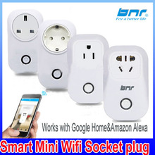 Wifi Smart Plug BNR Wireless Outlet Required Smart Timing Socket, Wireless Remote Control Your Devices Work with Alexa AMAZON