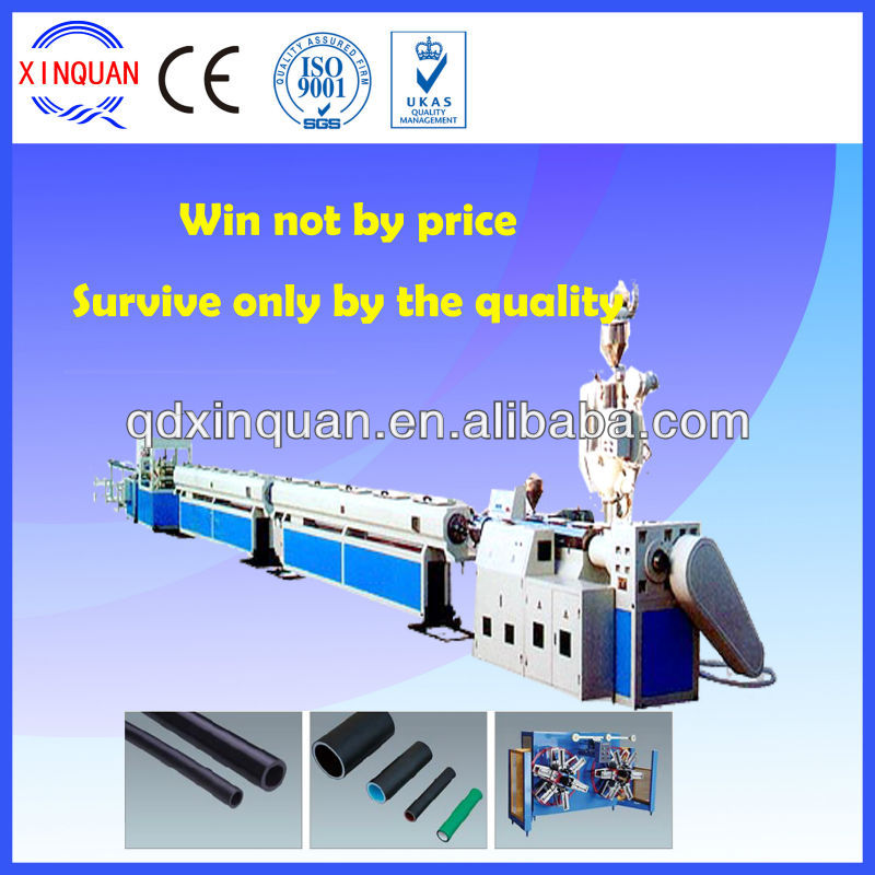 plastic extruding machine for PP-R, PE, PEX cold/hot water pipe