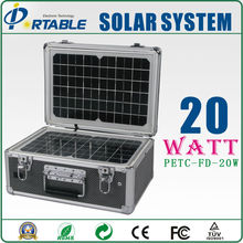 High quality and competitive price 20w home using portable solar panel system