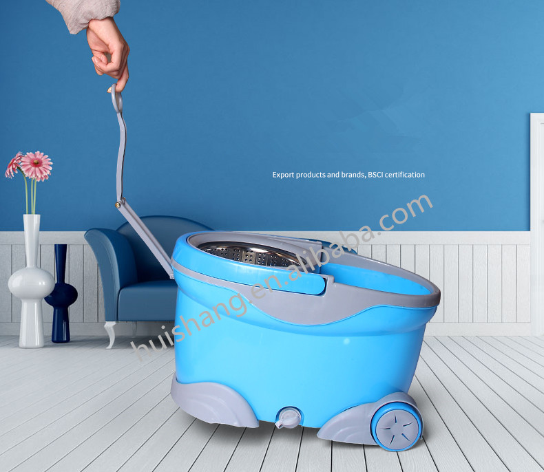 360 household easy cleaning mop bucket with wheel