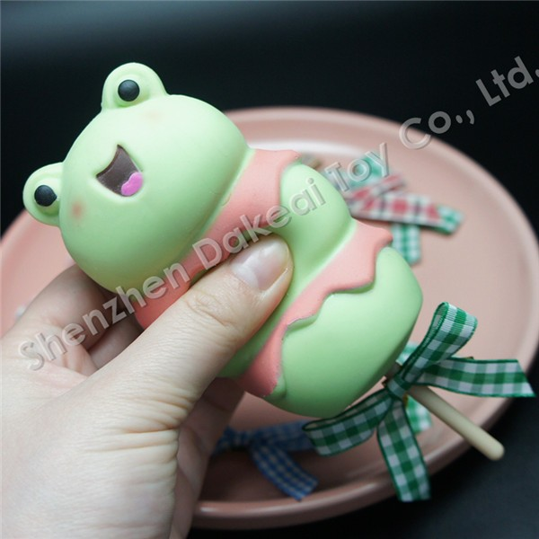 Squishy Bead Frog Pressure Reliever Squeeze Soft Flexible Frog Vent Toy