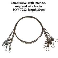 2015 wholesale Rolling fishing swivel with interlock snap and wire leader