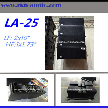LA-25 line array speaker box/Dual 10' cheap loudspeaker