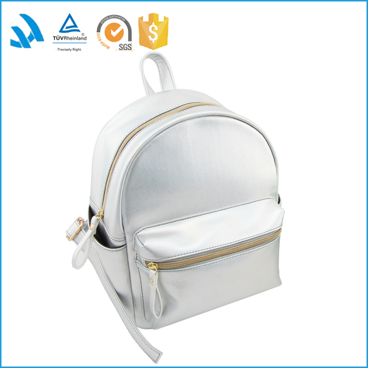 Wholesale fashion custom women high school pu leather bag backpack
