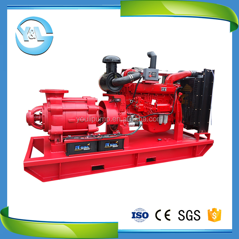 Horizontal multistage diesel engine booster water 10 inch dewatering pump