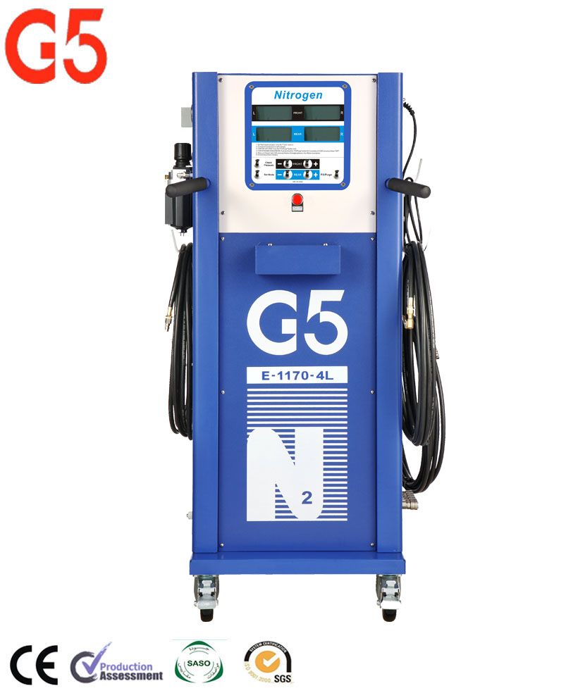 New Mobile High Pressure Nitrogen Generator Instant Filling Built-in Multi-head 4 Tyres Inflator CE Certificated