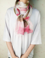 Modern Fashion Design 160cm*50cm lady Chiffon Scarves Women Silk Long Soft Shawl Printed Scarf