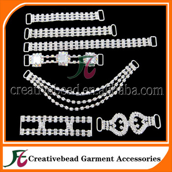 Wholesale crystal rhinestone connectors for bikinis